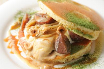和栗のパンケーキ